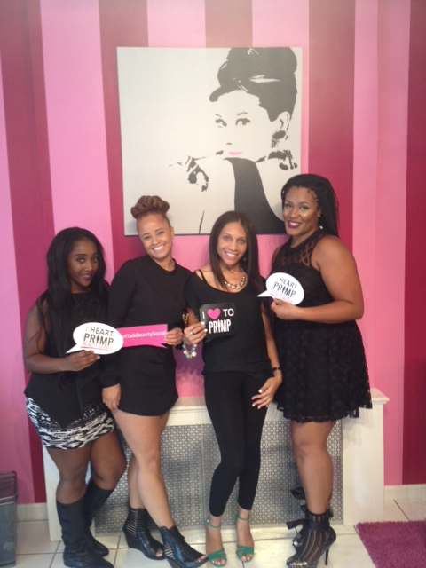 The Glam Squad: Nathalie Nicole, Nicole Alexis, Alesha Moore, and Tinea Porter